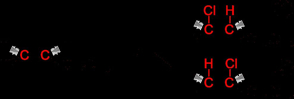 Esempio di legge di Markovnikov nella reazione tra 1-butene e l'acido cloridrico