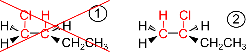 Applicando la regola di Markovnikov ottengo il 2-cloro-1-butene