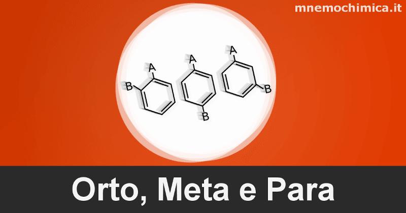 Orto, Meta e Para (Posizioni ed i Sostituenti orientanti)