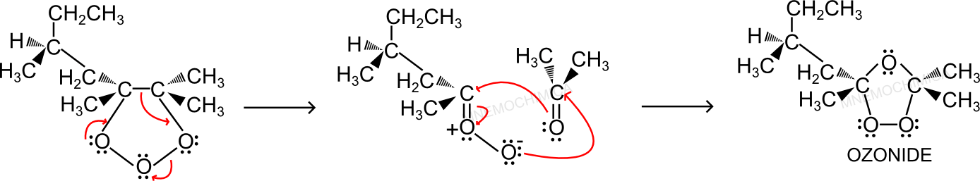 Formazione ozonide dal (S) 2,3,5-trimetil-2-eptene