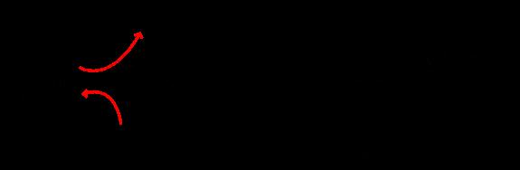 L'ozono reagisce con l'esene per formare il molozonuro