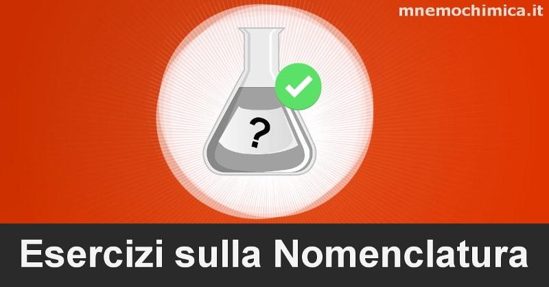 Esercizi Nomenclatura Chimica Organica (Svolti)