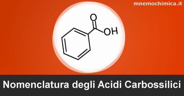 Nomenclatura degli Acidi Carbossilici (anche Aromatici) con Esercizi Svolti