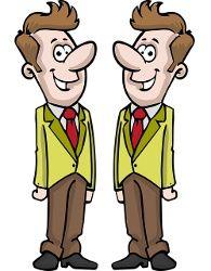 Enantiomeri che metaforicamente somigliano a due gemelli