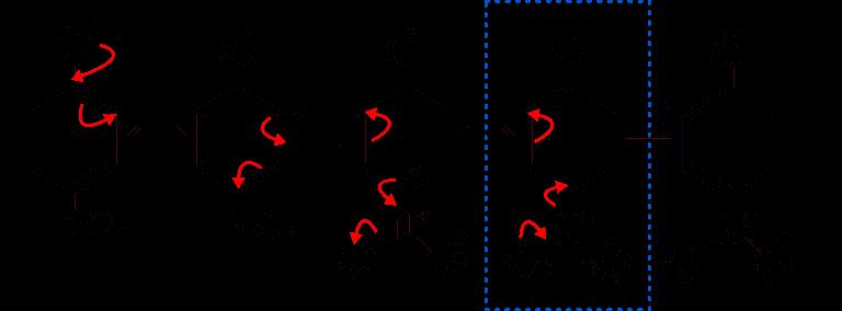Risonanza in più dello ione coniugato del 4-nitrofenolo
