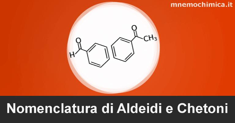 Copertina per la nomenclatura di aldeidi e chetoni