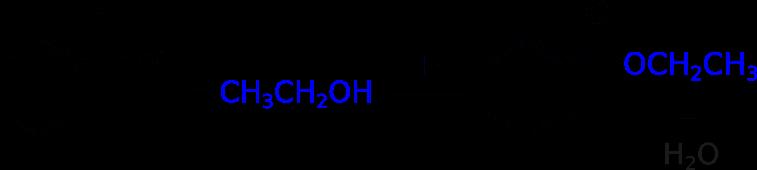 Esterificazione dell'acido benzoico con l'etanolo per ottenere il benzoato di etile