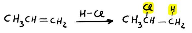 Da alchene ad alogenoalcano